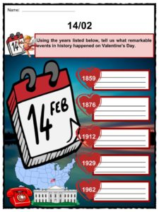 Valentines Day Facts Worksheets Origin  History Through Time