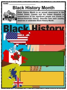 photo about Black History Month Printable Activities named Black Heritage Details Worksheets Black Background Thirty day period 2019