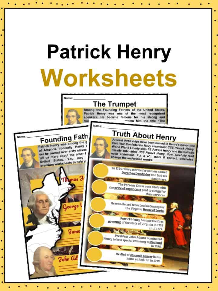 Patrick Henry Worksheets