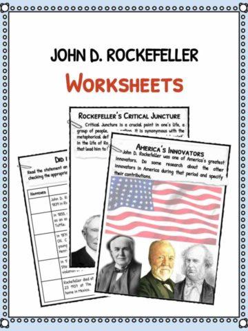 John D. Rockefeller Worksheets