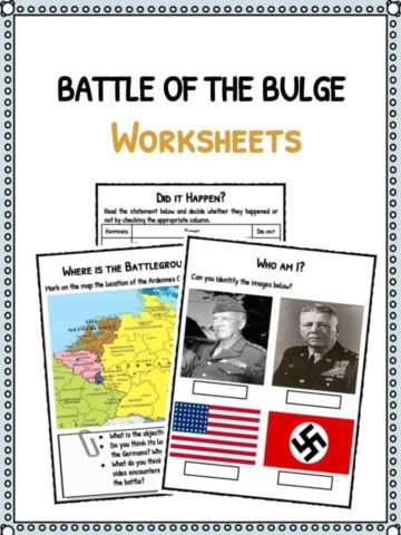 Battle of the Bulge Facts & Worksheets