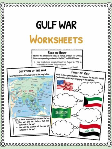 Gulf War Facts & Worksheets
