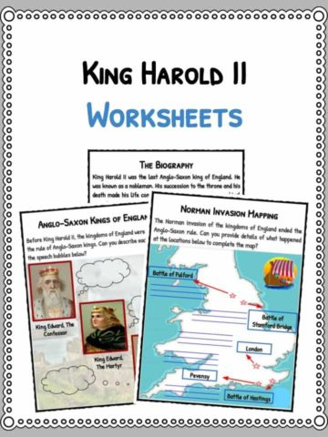 King Harold II Facts & Worksheets