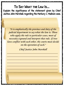 law marbury vs maddison Marbury v madison became established law not merely because it was an early precedent made at a politically opportune time, but because the force of reason makes its .