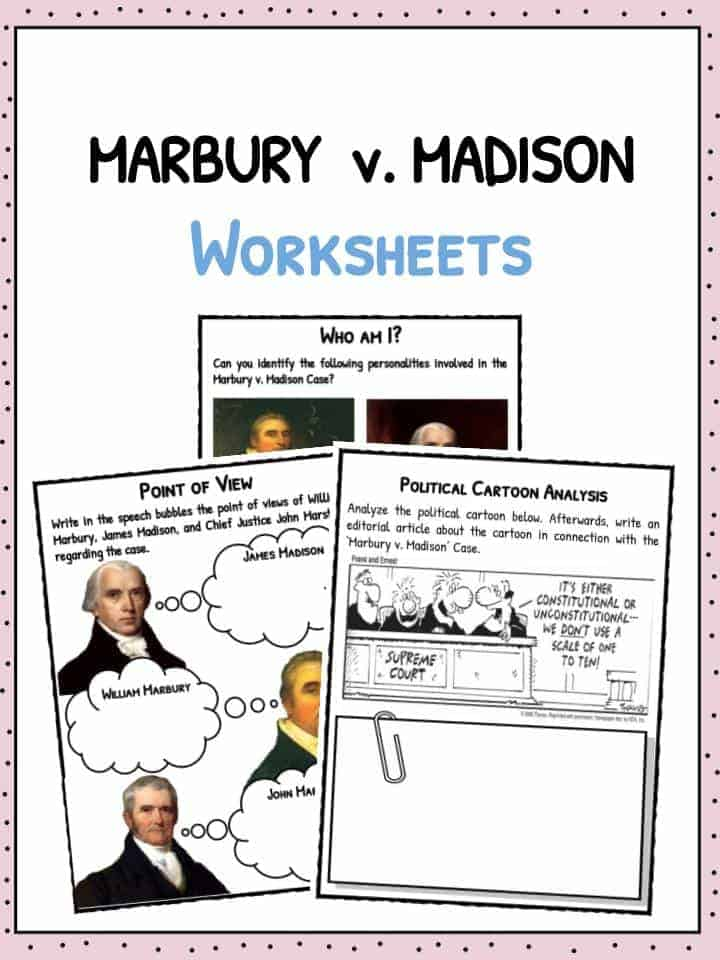 Marbury vs Madison Facts Worksheets For Kids – Marbury V Madison Worksheet