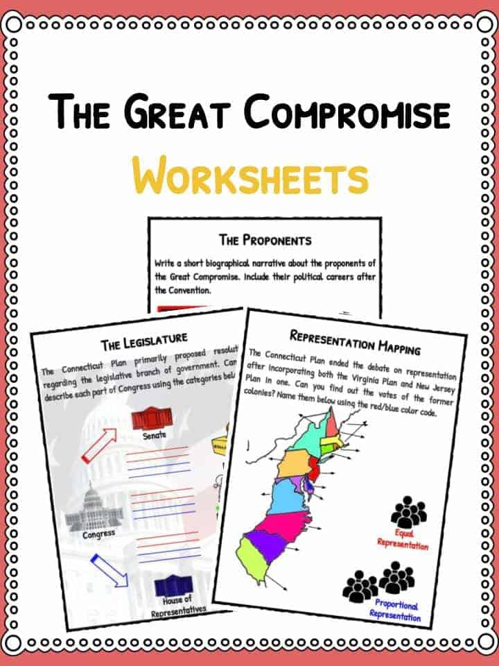The Great Compromise Connecticut Plan Facts Worksheets For Kids