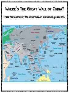 Great Wall Of China Map View.The Great Wall Of China Facts Worksheets Timeline For Kids