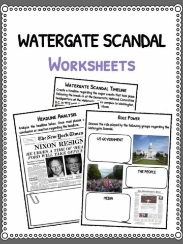 Watergate Scandal Facts & Worksheets