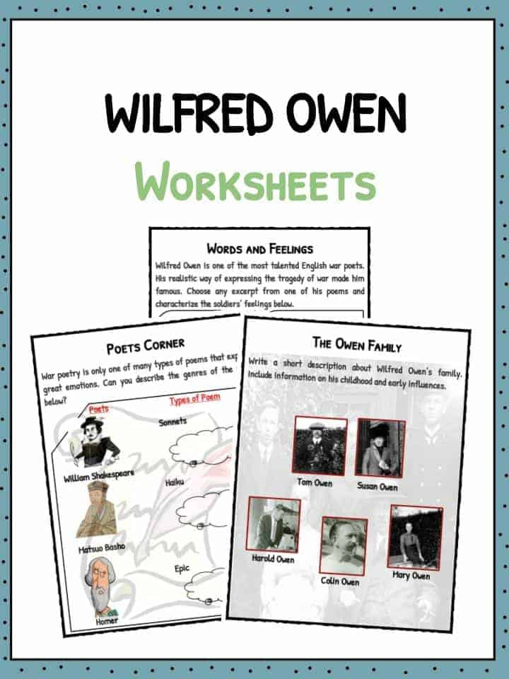 Wilfred Owen Worksheets