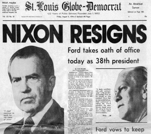 the discussion of whether the nixon white house was involved in the watergate scandal