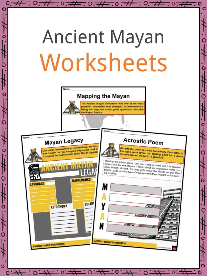 Ancient Mayan Worksheets