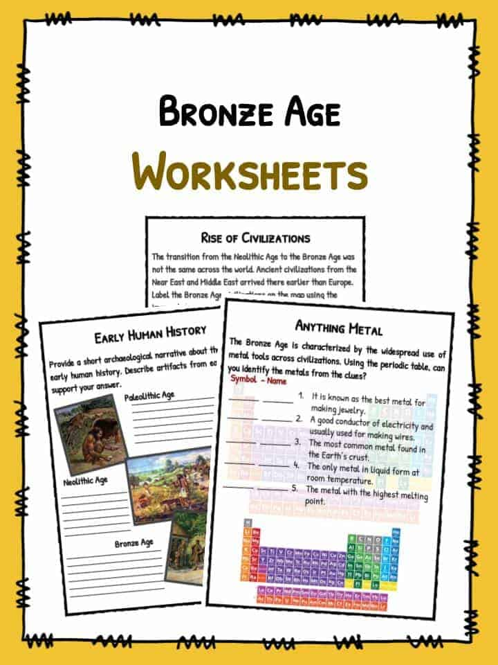 Bronze Age Facts & Worksheets