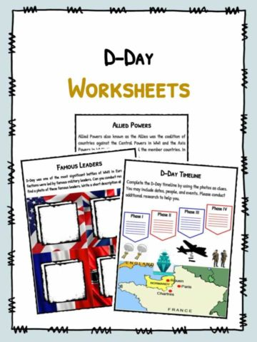 D-Day Facts & Worksheets