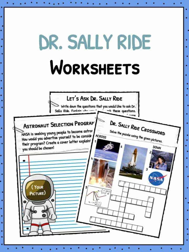 Dr. Sally Ride Facts & Worksheets