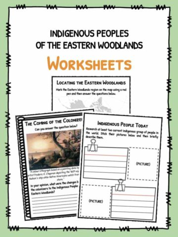 Indigenous People of the Eastern Woodlands Worksheets