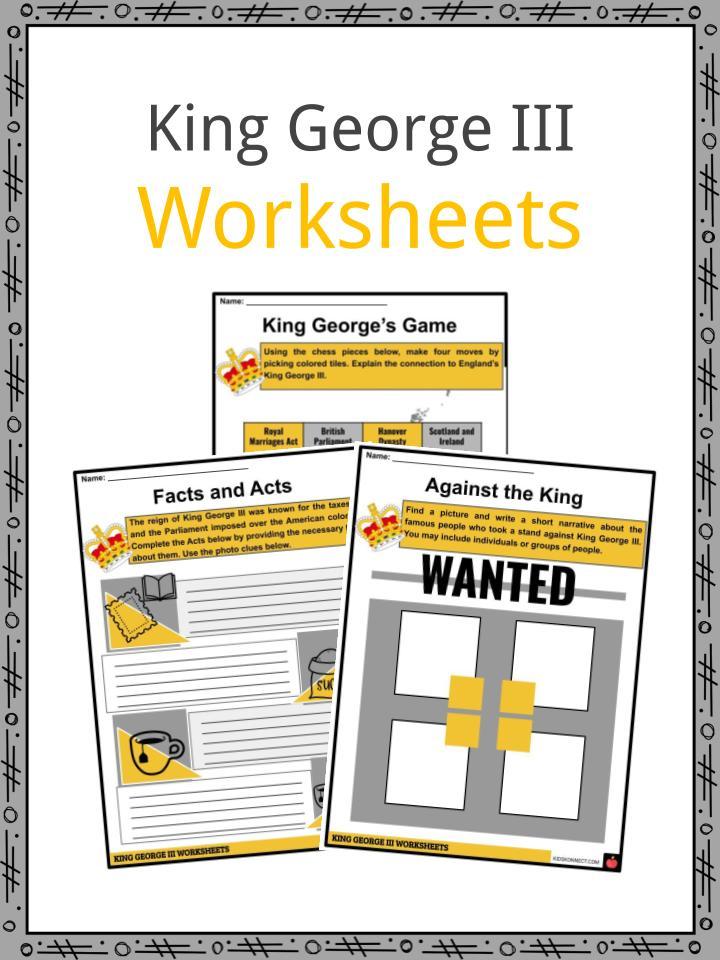 King George III Worksheets