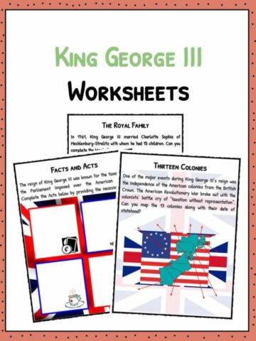 King George III Facts & Worksheets