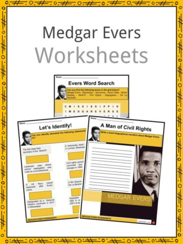 Medgar Evers Worksheets