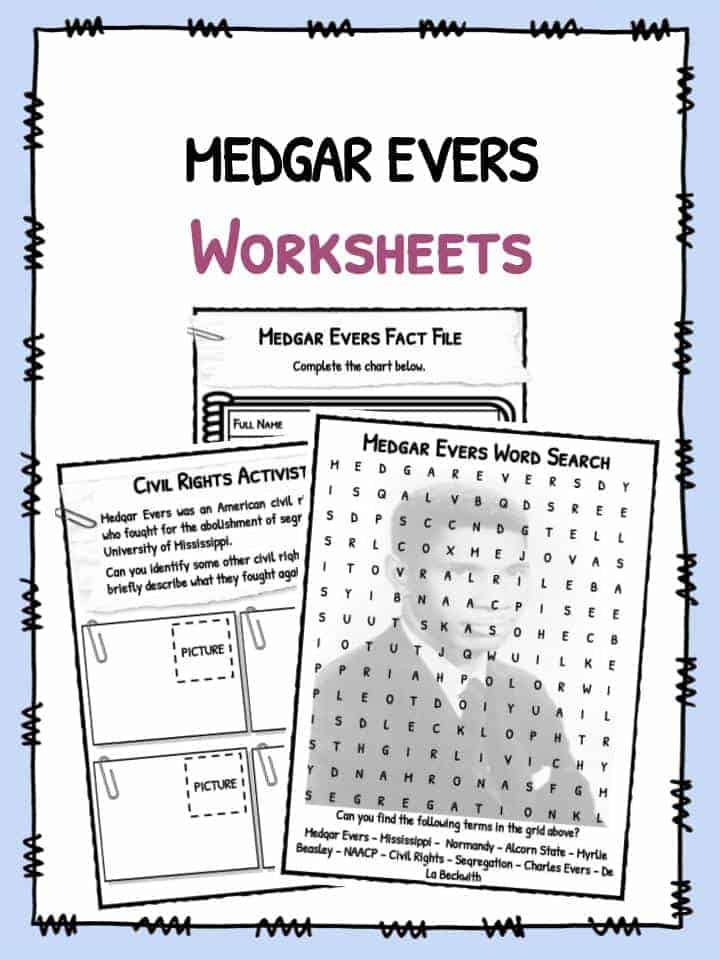 Medgar Evers Facts & Worksheets