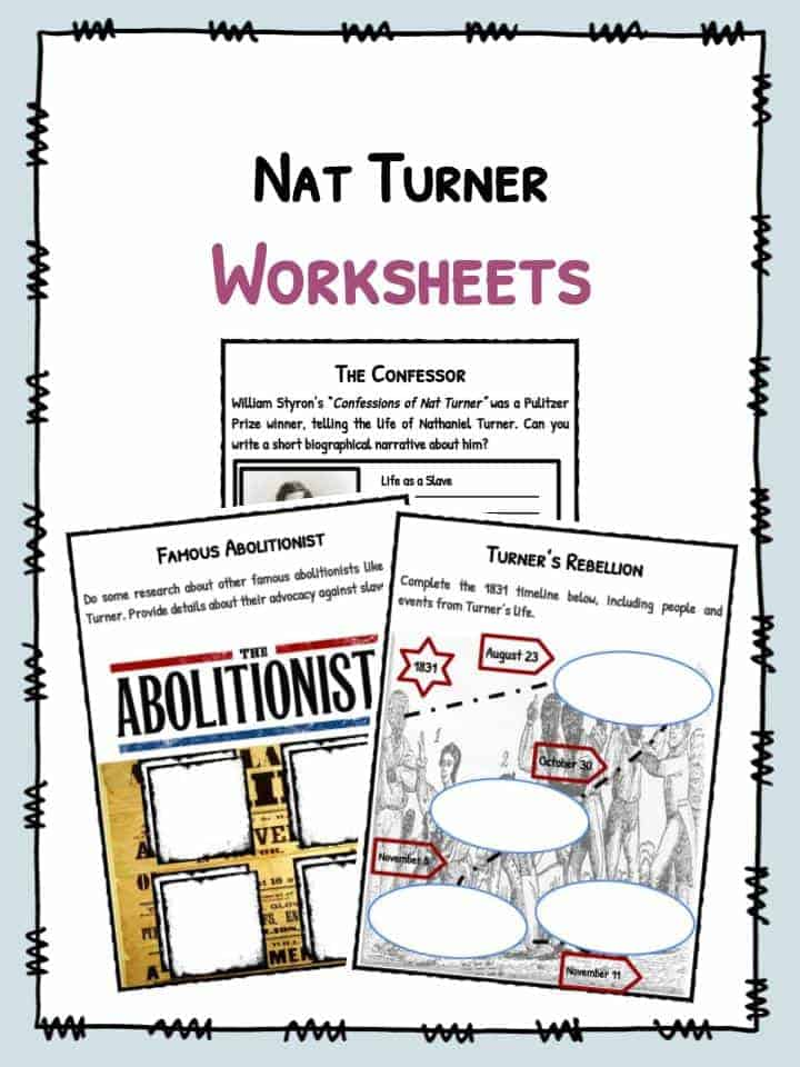 Nat Turner Facts & Worksheets