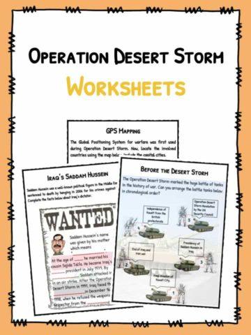 Operation Desert Storm Facts & Worksheets