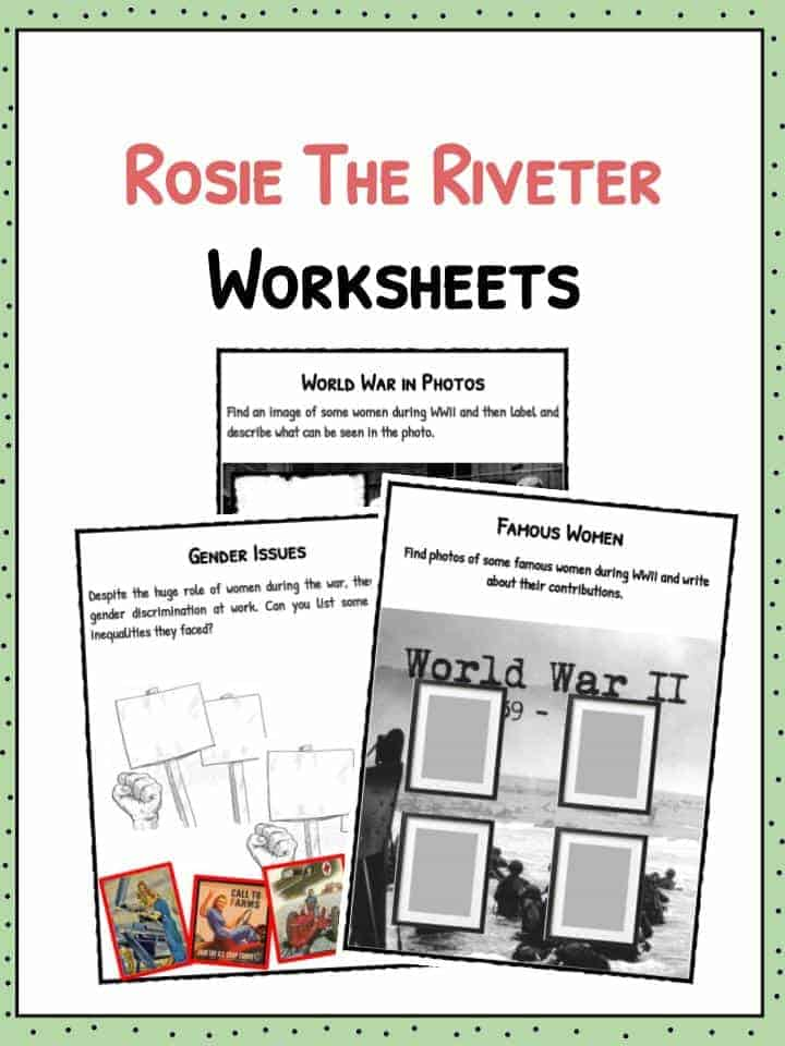 rosie the riveter history facts worksheets for kids. Black Bedroom Furniture Sets. Home Design Ideas