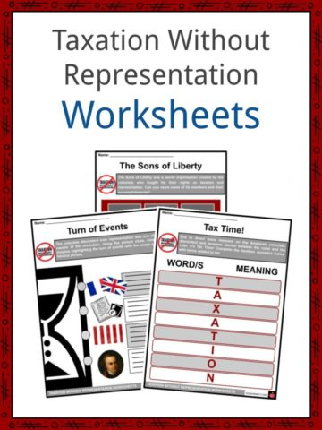 Taxation Without Representation Worksheets