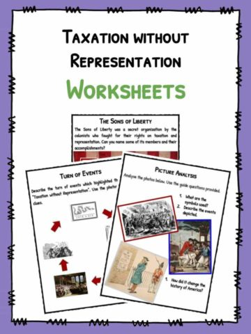 Taxation without Representation Facts & Worksheets
