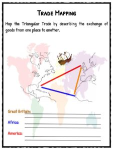 triangular trade transatlantic slave trade facts worksheets for kids. Black Bedroom Furniture Sets. Home Design Ideas