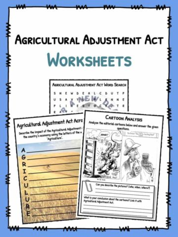 Agricultural Adjustment Act Worksheets