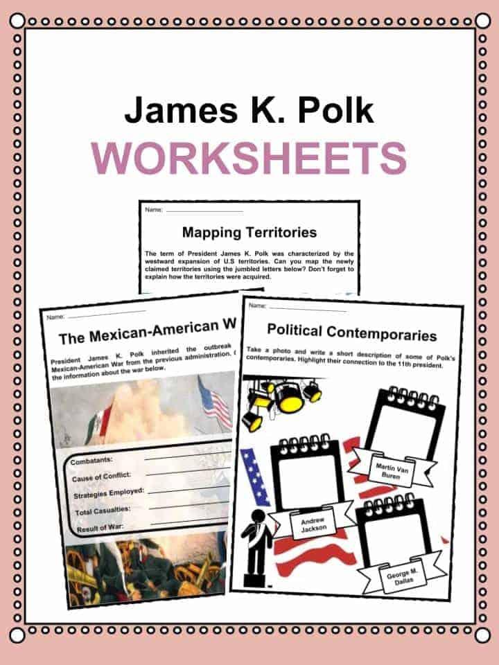 James K. Polk Worksheets