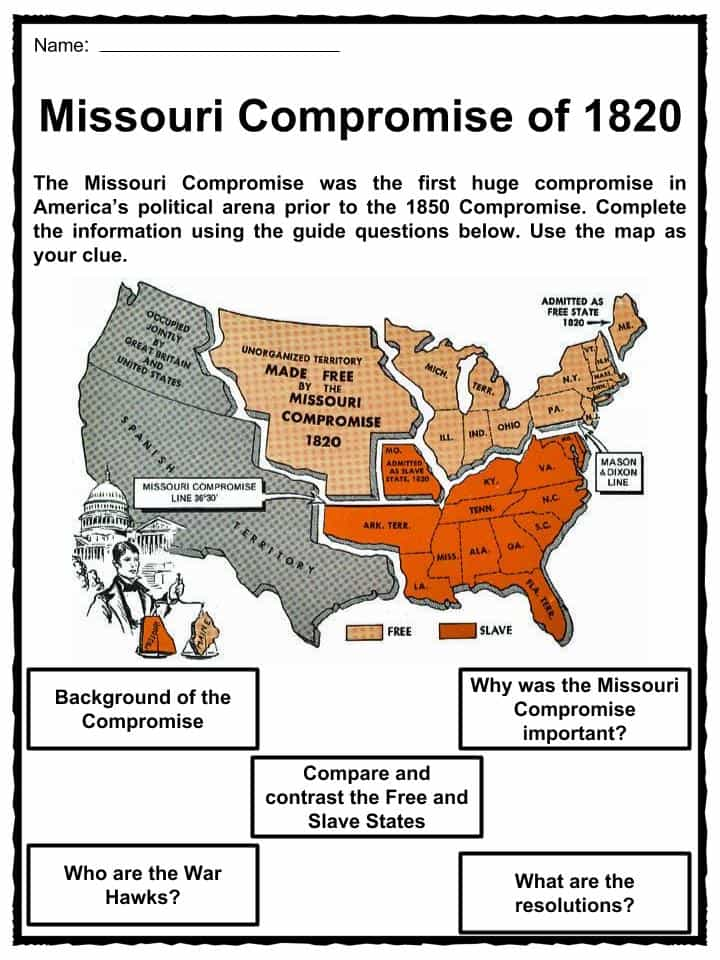 compare and contrast the compromises of 1820 to 1850 The civil war erupted after a long history of compromises and factory vs plantation in the the lesson to compare and contrast the.