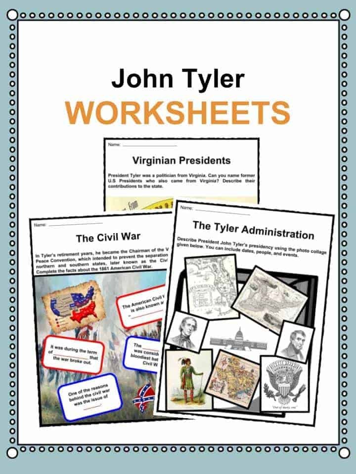John Tyler Worksheets