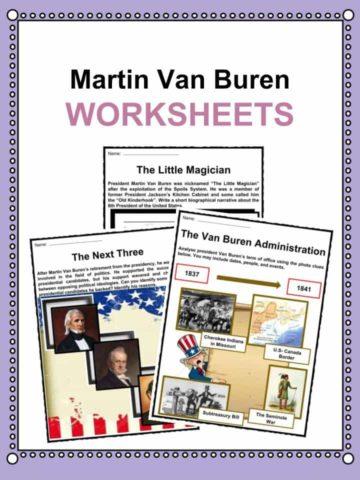 Martin Van Buren Worksheets