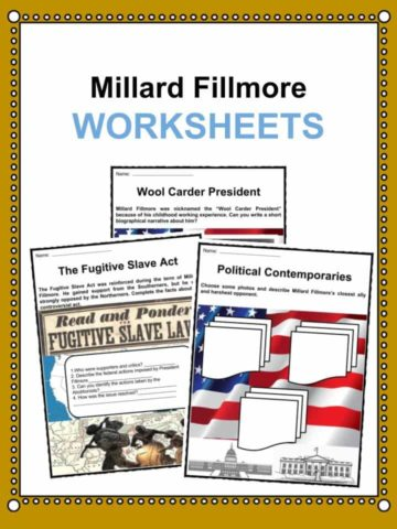 Millard Fillmore Worksheets