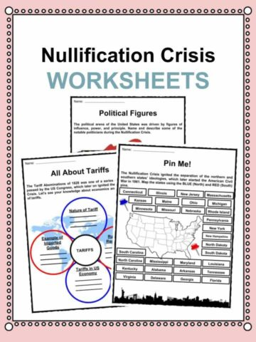Nullification Crisis Worksheets