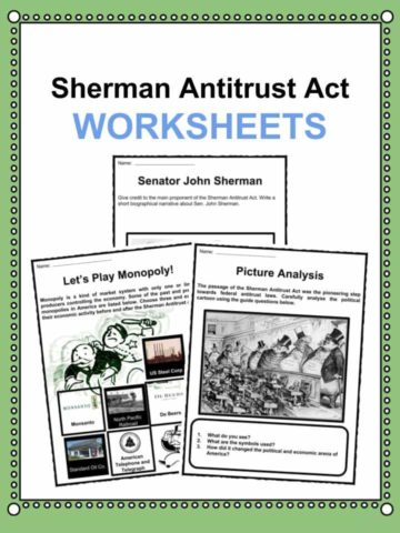 Sherman Antitrust Act Worksheets