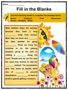 Summer Facts, Worksheets, Information & Key ...