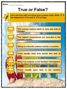 photo relating to All Summer in a Day Worksheet identified as Summertime Details, Worksheets, Written content Primary Features