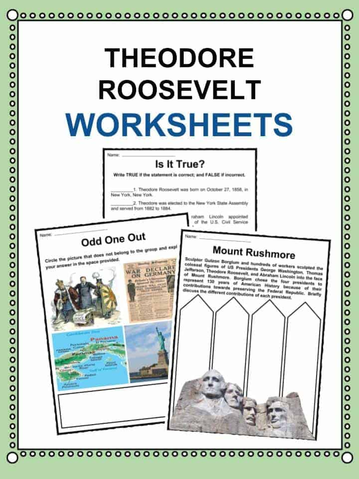 Theodore Roosevelt Worksheets