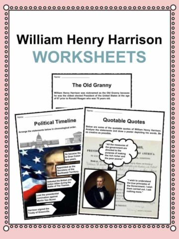 William Henry Harrison Worksheets