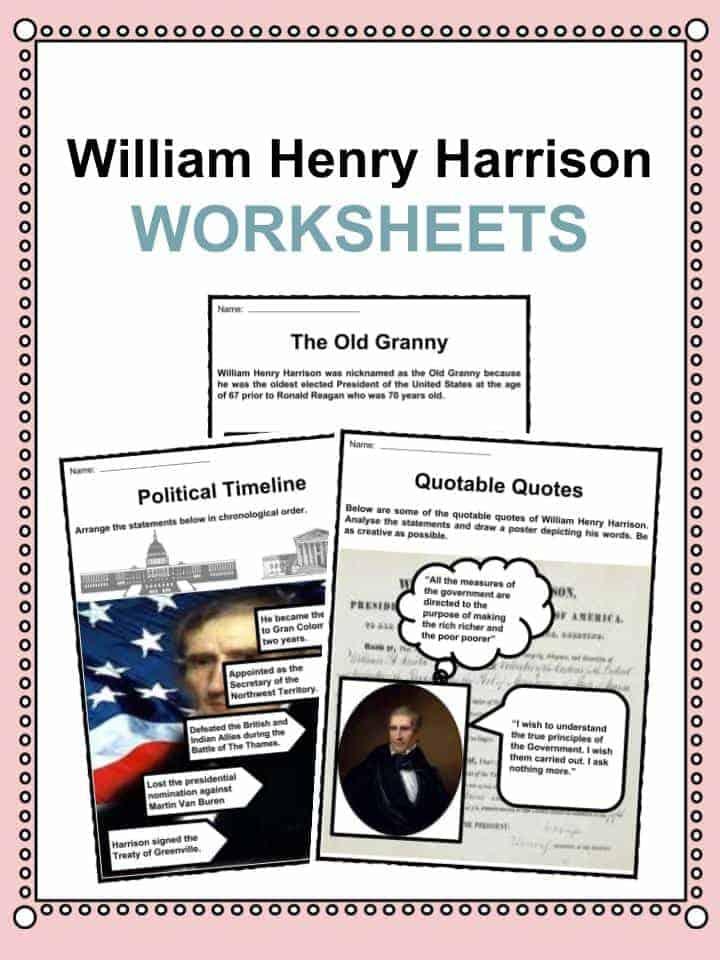 William Henry Harrison Worksheets