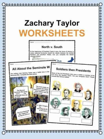 Zachary Taylor Worksheets
