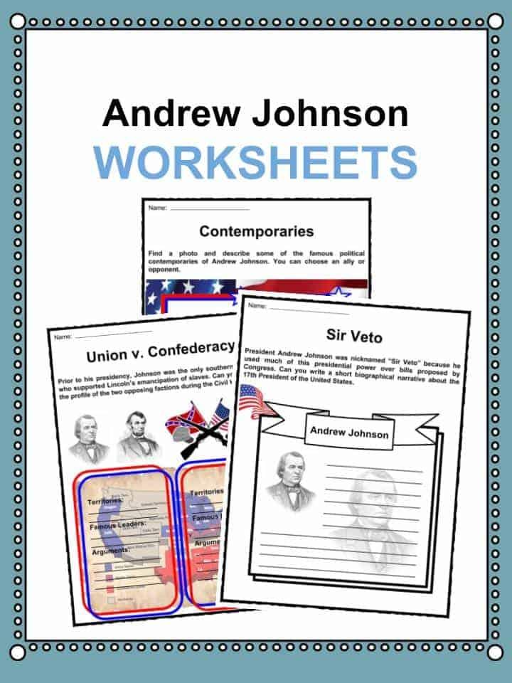 Andrew Johnson Worksheets