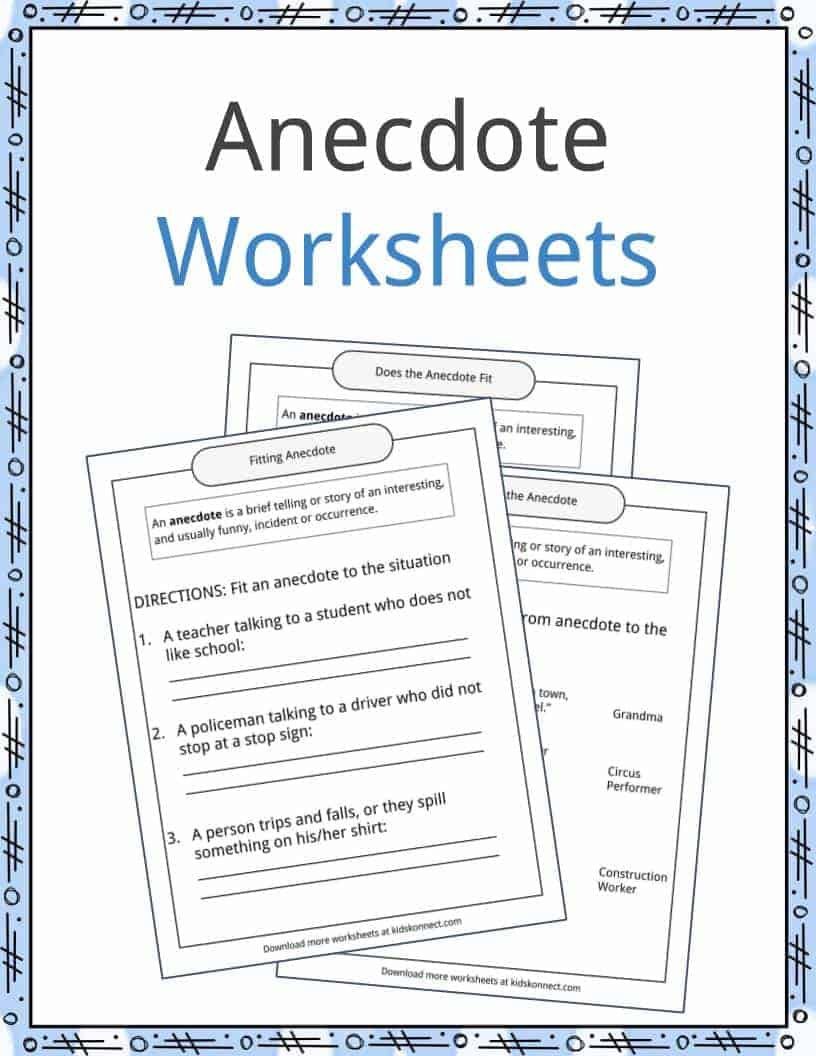 Anecdote Examples, Definition and Worksheets | KidsKonnect