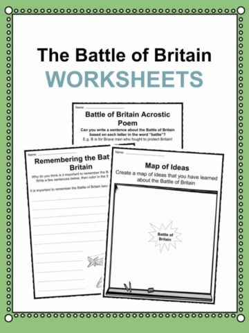 Battle of Britain Worksheets
