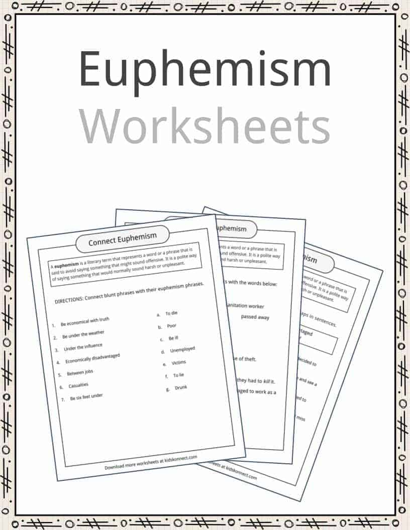 Euphemism Examples, Definition & Worksheets For Kids