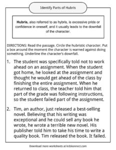 Hubris Examples, Definition and Worksheets | KidsKonnect