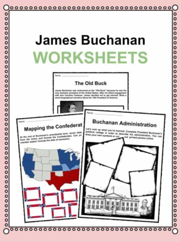 James Buchanan Worksheets