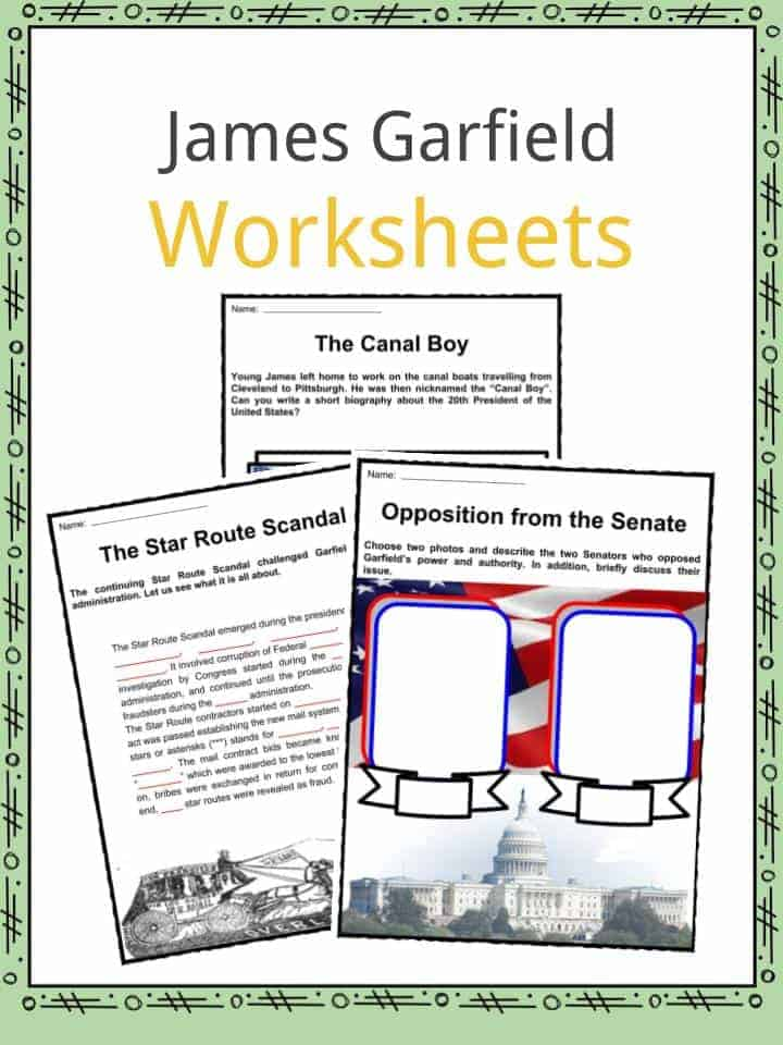 James Garfield Worksheets
